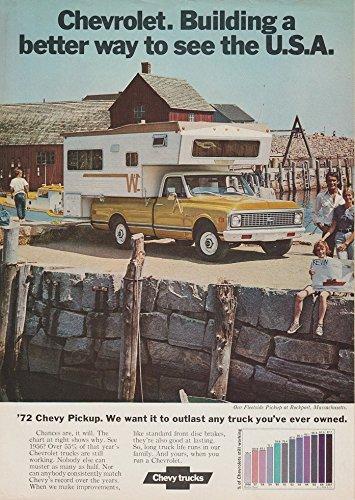 1972 CHEVROLET FLEETSIDE PICKUP with CAMPER