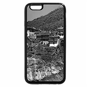 iPhone 6S Plus Case, iPhone 6 Plus Case (Black & White) - gorgeous little town across the bridge