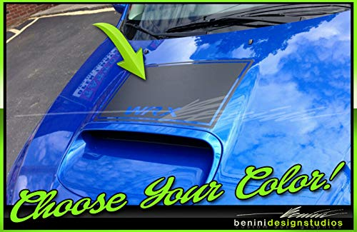 - 2010 and up Custom Hood Scoop Blackout Stripes Decals 1 Compatible with Impreza WRX STI (Carbon Fiber)