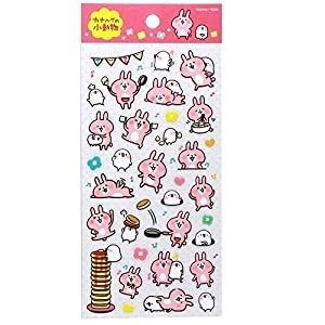 Line Character Rabbit Suteifuru Kanahei Small Animals Transparent Seal Polka Dot by Line