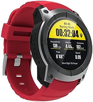 rungao reloj inteligente Control de la frecuencia cardiaca apoyo tarjeta SIM GPS Wifi Smartwatch para Android IOS
