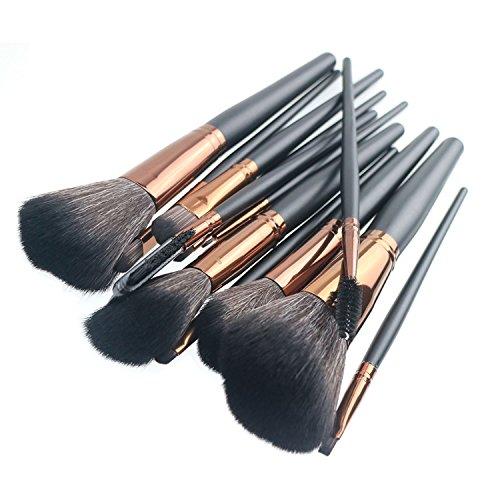 Makeup Brushes,VVinRC Premium Synthetic Cosmetic Professional Makeup Brushes Set , Foundation Blending Blush Eyeliner Face Powder Brush Makeup Brushes (Black) - Premium Synthetic Powder