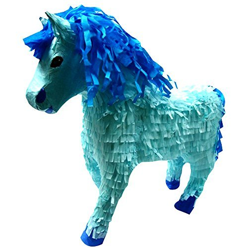 Large Blue Horse Pinata, Party Game, Decoration and Photo Prop, 19