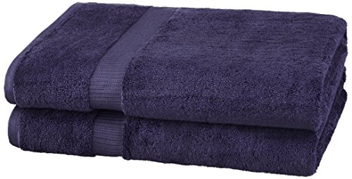Pinzon Organic Cotton Bath Sheet (2 Pack), Navy