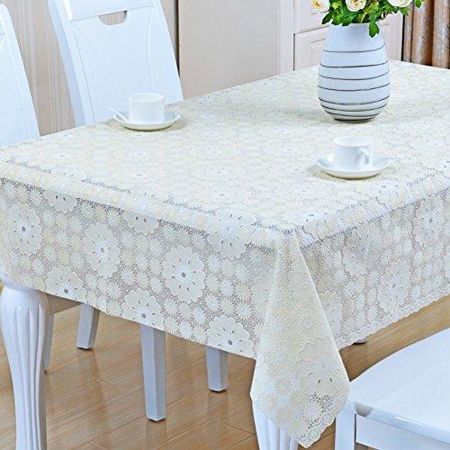 HAKLLASDFNFDES Pvc, plastic tablecloth/table cloth/[waterproof], burn-proof, oil-proof, disposable, european-style tablecloths/garden rectangular table mat-T 137x190cm(54x75inch) ()
