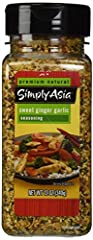 Simply Asia Sweet Ginger Garlic Seasoning use to give authentic flavor to meats, seafood and vegetables, rice and noodle dishes.