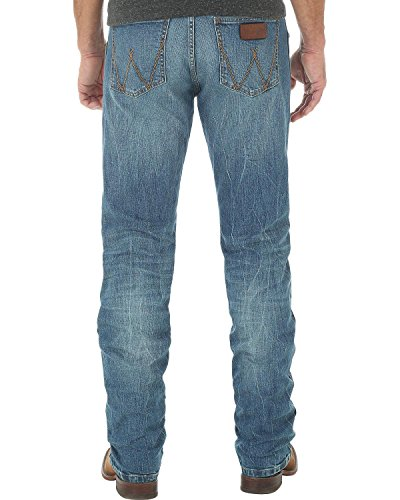 Denim 11.75 Cotton Ounce (Wrangler Men's Tall Retro Slim-Fit Bootcut 11.75 Oz Jean, Hayward, 34 x 38)