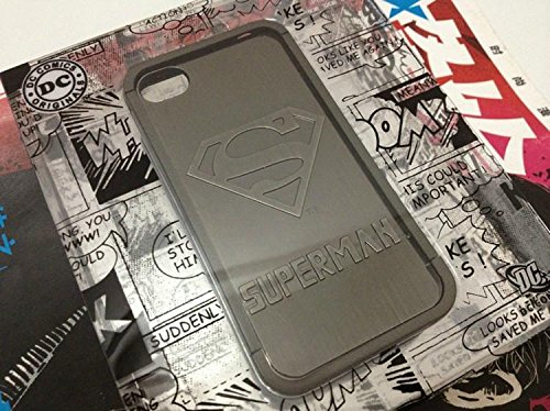 Hard Case Cover for Iphone 4 4s 4g 3d Superman Metal Skin Design with Screen Protector
