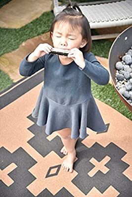 TRIBE WEST Baby Playmat 6' X 4' Activity Floor Mat for Crawling Babies, Toddlers, Boy or Girl, Natural Rubber and Cork, Durable, Indoor and Outdoor, Supports Artisans: (Southwestern Solana)