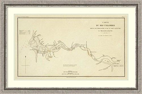 Framed Art Print 'Columbia River, Oregon, Washington, 1844' by Eugene Duflot de - River Eugene