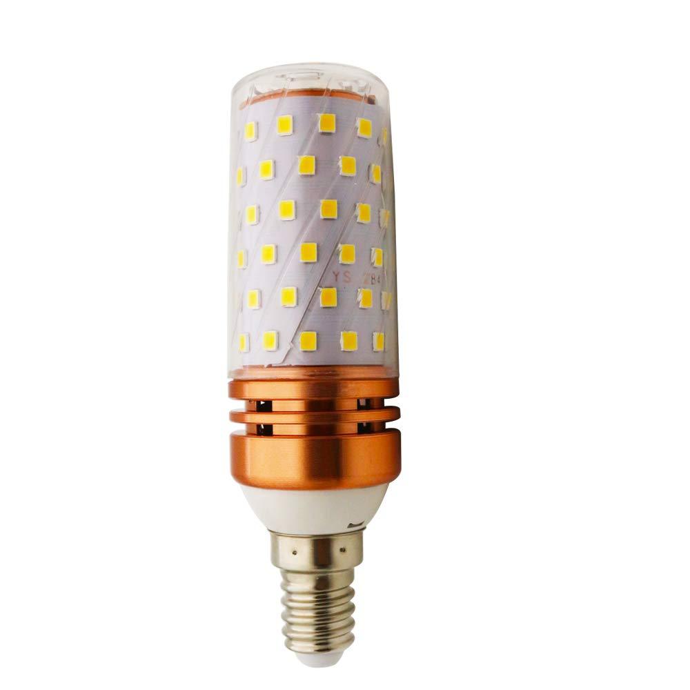 LED maí z bombilla 16W E27 Cá lida luz blanca 3000K LED Candelabros bombillas,No regulables (6 piezas, E27-16W) Chao Zan Lighting