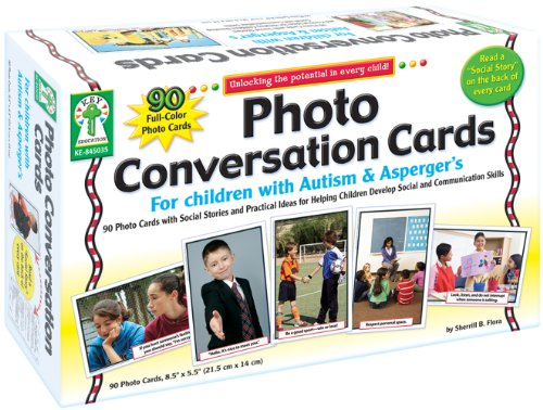 Key Education Photo Conversation Cards for Children with Autism and Asperger's (Autism Pictures)