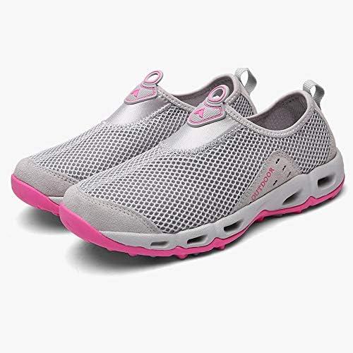 大きいサイズの水遊びの靴アウトドアウォーターシューズカバーフットペダルメッシュ怠惰な靴(ホワイト) ポータブル (色 : White, Size : US5)