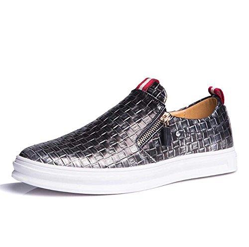 Cubren Zapatos Tamaño Tamaño de de Suave Color Inferior Hombres Gran los Verano Transpirables Plata Zapatos Perezosos Zapatos los Tablero de 38 pies Casuales nUqOCAxI4w