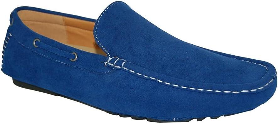 KRAZY SHOE ARTISTS Shoe Artists Bossman Brown Stitch Style Loafer