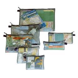 Travelon Set of 7 Packing Envelopes, Assorted Sizes