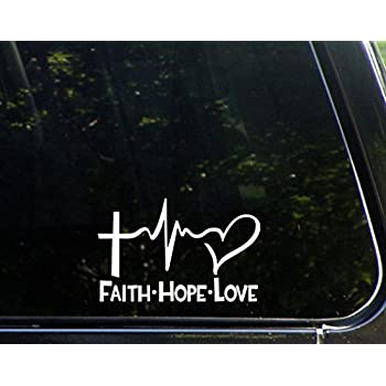 Amazoncom Religious Christian Jesus Name White Vinyl Decal - Bike graphics stickers imagesstickers on bike sticker creations