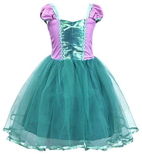 Cotrio Big Girls Little Mermaid Ariel Costume Dress