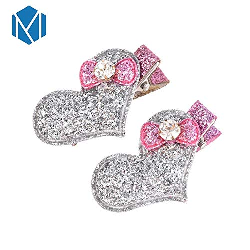 24dd6c9cb0 Amazon.com: Baby Girls Hair Accessories Sequins Heart Butterfly ...