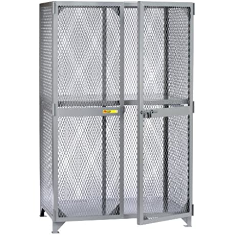 Little Giant SL1 2460 Metal Welded Storage Locker With 1 Center Shelf 60 Width X 78 Height X 24 Depth