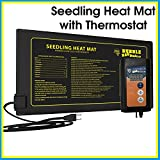 "BUBBLEBAGDUDE Seedling Heat Mat with Digital Thermostat Combo Kit - Waterproof Hydroponic Starting Heating Pad 10"" x 20.75"" - Propagation Starter Kit for Seedling, Cloning and Seed Germination"