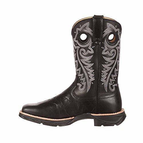 Durango Dames Opgeschaald Dames Rebel Western Leren Casual Laarzen Zwart