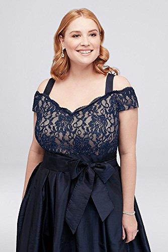Pleated Taffeta Plus Size Mother of Bride/Groom Dress with Lace Bodice  Style.
