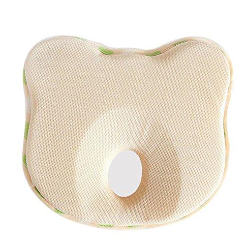 Almohada para prevenir el síndrome de cabeza plana, evita la plagiocefalia para bebés y recién nacidos, Beige Bear, Talla...