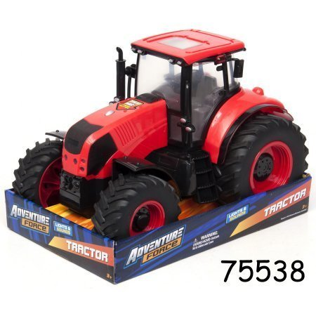 Adventure Force Large Red Farm Tractor Lights & Sounds