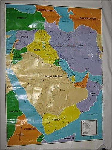 Mideast Crisis map: CHUSA: Amazon.com: Books