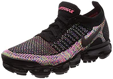 Nike Womens Air Vapormax Flyknit 2 Running Trainers 942843 Sneakers Shoes (UK 3 US 5.5 EU 36, Black Racer Pink 015) 015