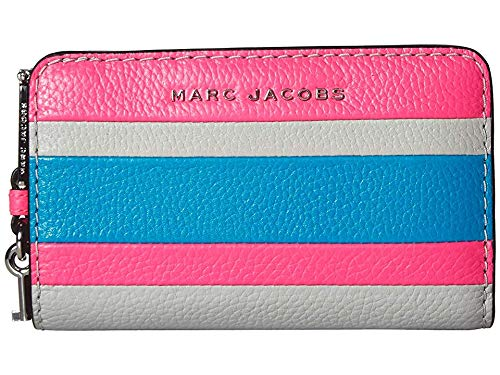 Marc Jacobs Women's The Grind Color Blocked Compact Wallet Bright Pink Multi One Size