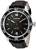 Wenger Men's 'Roadster' Swiss Quartz Stainless Steel and Leather Watch, Color:Black (Model: 01.0851.120)