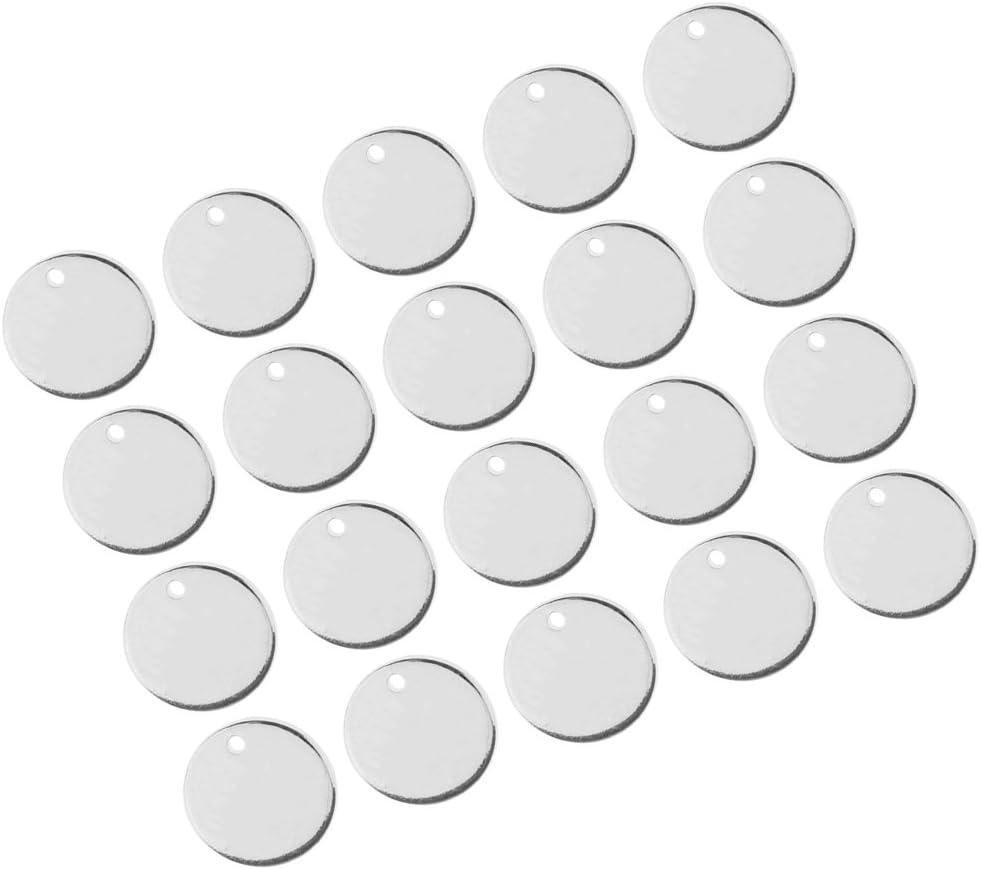 d/écoration de Maison 11 mm chiwanji Lot de 40 Breloques Rondes en m/étal plaqu/é Or argent/é pour Fabrication de Bijoux