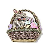 Heidi Daus Easter Eggstravaganza Crystal and Enamel Pin What a cute little piece