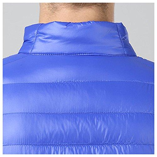 LPATTERN Collar Jacket Stand Royal Down Puffer Packable Coat Men's Blue Lightweight 68Brq6