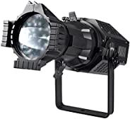 Monoprice COB LED elipsoidal – Blanco | 3200 K, 26 Grados, 200 W, Lente Intercambiable, Enfoque Manual