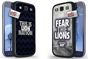 """Lifebox - Cool """"This is Lion Nation"""" and """"Fear the Lions"""" Chevron Sports Hard Case COMBO TWO PACK for Samsung Galaxy S3"""