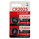 CR2025 Key Fob Remote Battery (2-Pack): more info