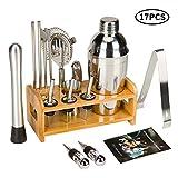 Best Bartender Kits - 17 Piece Cocktail Shaker Set Bartender Kit Review