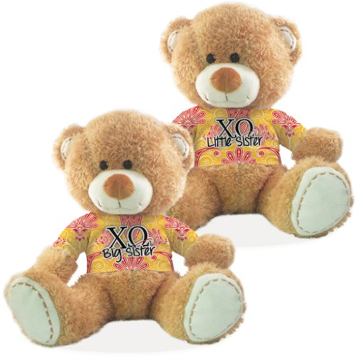 Chi Omega Big Sister and Little Sister Teddy Bear Gift Set of (Chi Bears)