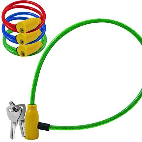 Gourmet COILED BIKE CABLE LOCK BICYCLE CYCLE SECURITY COA...