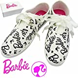 Barbie バービー ビッグリボン スニーカー 【ホワイト Mサイズ(23~24cm)】レディース スニーカー 靴 バービー グッズ