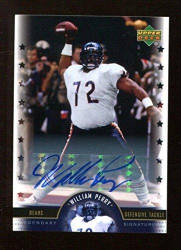 (William Perry Autographed Football - 2005 Upper Deck Legends 39615 - Autographed Footballs)