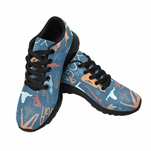 Interessante Donna Da Jogging Corsa Sneaker Leggero Andare Facile A Piedi Comfort Sport Scarpe Da Ginnastica Yoga Pose, Loto, Sigillo, Paisley Multi 1