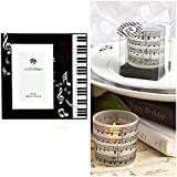MUSICAL Gift Set - Beveled Glass MUSIC - PHOTO Frame & Two (2) Frosted CANDLE Holders - PIANO KEYBOARD - NOTES - G Clef RECITAL GIFT - KEEPSAKE Boxed