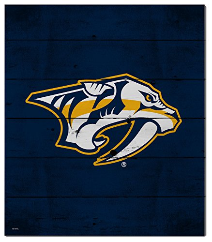 KH Sports Fan 12″x13″ Nashville Predators Pallet Pride NHL Logo Plaque