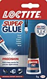 Loctite Super Glue Precision / Extra strong liquid glue for metal, ceramics, plastic, rubber, leather, wood / 1 x 5g bottl