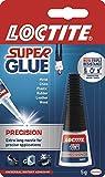 Loctite Super Glue Precision / Extra strong liquid glue for metal, ceramics, plastic, rubber, leather, wood / 1 x 5g bottl