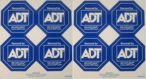 ADT Window Sticker Decal Authentic Dark Blue